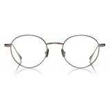 Tom Ford - Titanium Leather Temple Optical - Dark Ruthenium - FT5717-P - Optical Glasses - Tom Ford Eyewear