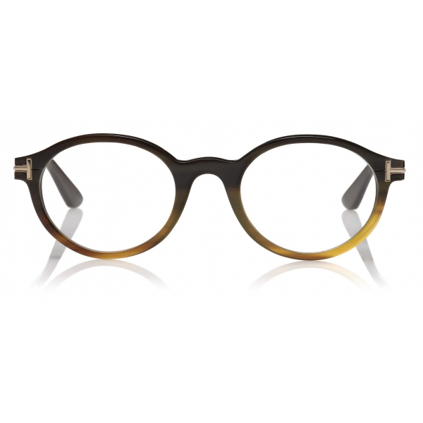 Tom Ford - Round Horn Optical - Round Optical Glasses - Light Horn - FT5720-P - Optical Glasses - Tom Ford Eyewear