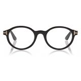 Tom Ford - Round Horn Optical - Round Optical Glasses - Black Horn - FT5720-P - Optical Glasses - Tom Ford Eyewear