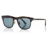 Tom Ford - Key Bridge Round Horn Optical - Black Horn - FT5722-P - Optical Glasses - Tom Ford Eyewear