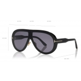 Tom Ford - Troy Sunglasses - Round Sunglasses - Black - FT0836 - Sunglasses - Tom Ford Eyewear