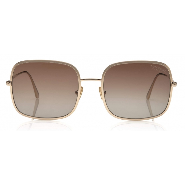 Tom Ford - Keira Sunglasses - Square Sunglasses - Shiny Rose Gold - FT0865 - Sunglasses - Tom Ford Eyewear