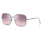 Tom Ford - Keira Sunglasses - Square Sunglasses - Shiny Light Ruthenium - FT0865 - Sunglasses - Tom Ford Eyewear