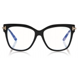Tom Ford - Square Shape Blue Block Optical - Square Optical Glasses - Black - FT5704-B - Optical Glasses - Tom Ford Eyewear