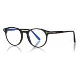 Tom Ford - Square Shape Blue Block Optical - Black - FT5704-B - Optical Glasses - Tom Ford Eyewear