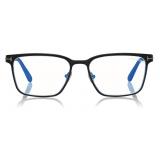 Tom Ford - Blue Block Squared Opticals - Square Optical Glasses - Black - FT5733-B - Optical Glasses - Tom Ford Eyewear
