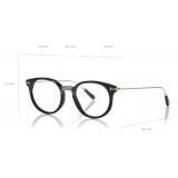 Tom Ford - Ultra Thin Horn & Titanium Round Optical - Black Horn - FT5723-P - Optical Glasses - Tom Ford Eyewear