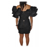 Elisabetta Franchi - Set Draped Top and Skirt - Black - Dress - Made in Italy - Luxury Exclusive Collection