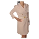 Elisabetta Franchi - Mini Dress Frock Coat Model - Lime - Dress - Made in Italy - Luxury Exclusive Collection