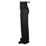 Elisabetta Franchi - High-Waist Wide Leg Trousers - Black - Trousers - Made in Italy - Luxury Exclusive Collection