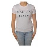 Elisabetta Franchi - Round Neck T-Shirt Made in Italy - White - T-Shirt - Made in Italy - Luxury Exclusive Collection