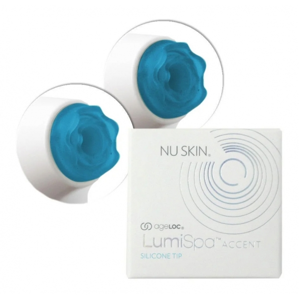 Nu Skin - Replacement Blue Silicone Tips for Brightening Eye Attachment - Body Spa - Beauty - Professional Spa Equipment