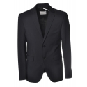 Dondup - Two Buttons Screwed Jacket - Blue - Jacket - Luxury Exclusive Collection