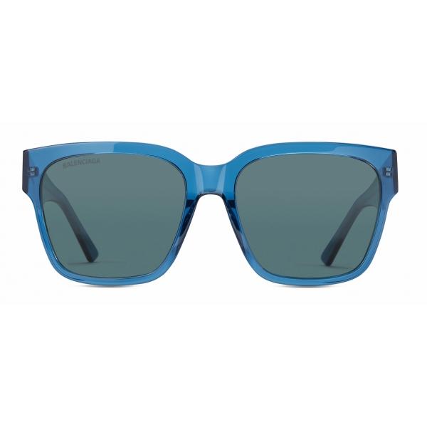 Balenciaga - Occhiali da Sole Flat Square - Blu - Occhiali da Sole - Balenciaga Eyewear