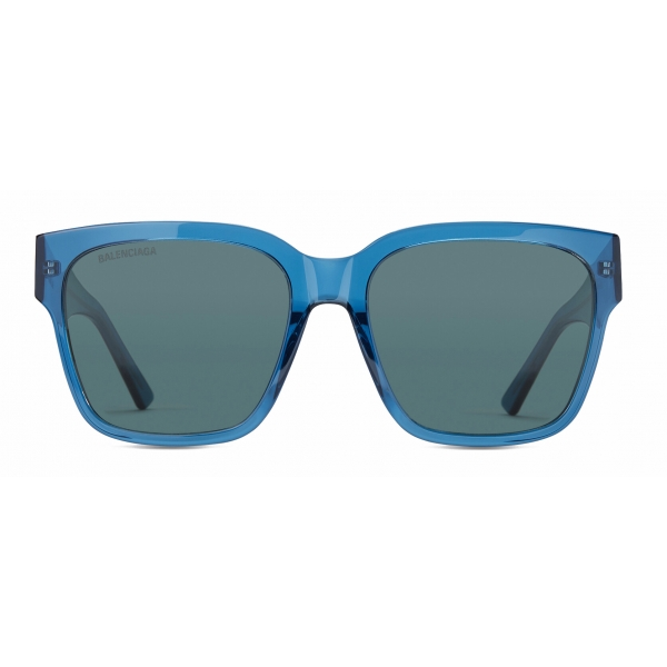 Balenciaga - Flat Square Sunglasses - Blue - Sunglasses - Balenciaga Eyewear