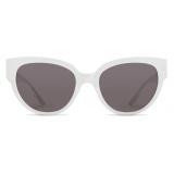 Balenciaga - Flat-D Frame Sunglasses - White - Sunglasses - Balenciaga Eyewear