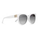 Balenciaga - Dynasty Cat Sunglasses - White - Sunglasses - Balenciaga Eyewear