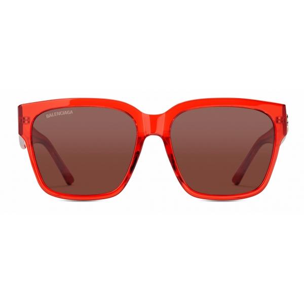 Balenciaga - Occhiali da Sole Flat Square - Rosso - Occhiali da Sole - Balenciaga Eyewear