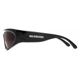 Balenciaga - Swift Oval Sunglasses - Black - Sunglasses - Balenciaga Eyewear