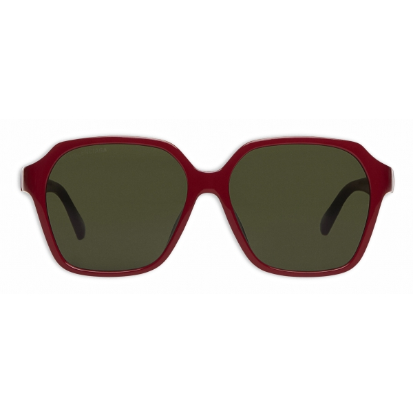 Balenciaga - Side Square Sunglasses - Red - Sunglasses - Balenciaga Eyewear