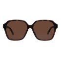 Balenciaga - Side Square Sunglasses - Brown - Sunglasses - Balenciaga Eyewear