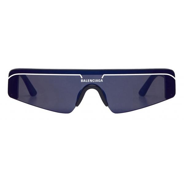 Balenciaga - Occhiali da Sole Ski Rectangle - Blu - Occhiali da Sole - Balenciaga Eyewear