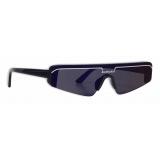 Balenciaga - Ski Rectangle Sunglasses - Blue - Sunglasses - Balenciaga Eyewear