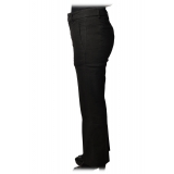 Dondup - Straight Leg Trousers with Strap - Black - Trousers - Luxury Exclusive Collection