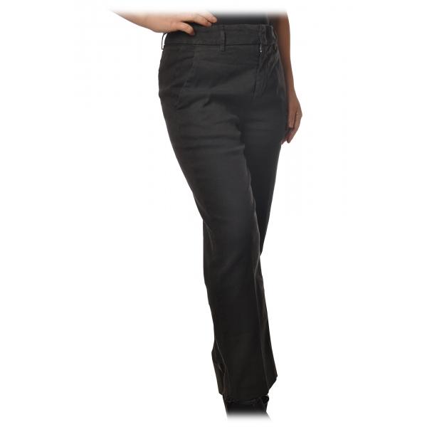 Dondup - Pantalone Gamba Dritta con Cinturino - Nero - Pantalone - Luxury Exclusive Collection