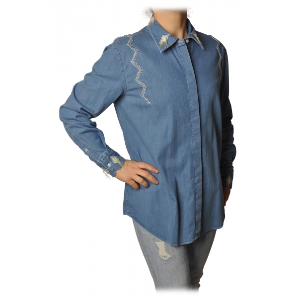 Dondup - Camicia Denim - Blue Jeans - Camicia - Luxury Exclusive Collection