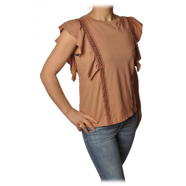 Dondup - T-shirt Dettaglio Passamaneria - Rosa - T-shirt - Luxury Exclusive Collection