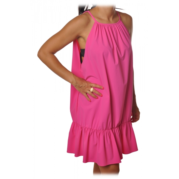 Dondup - Wide Dress with Flounce - Fuchsia - Dresses - Luxury Exclusive Collection