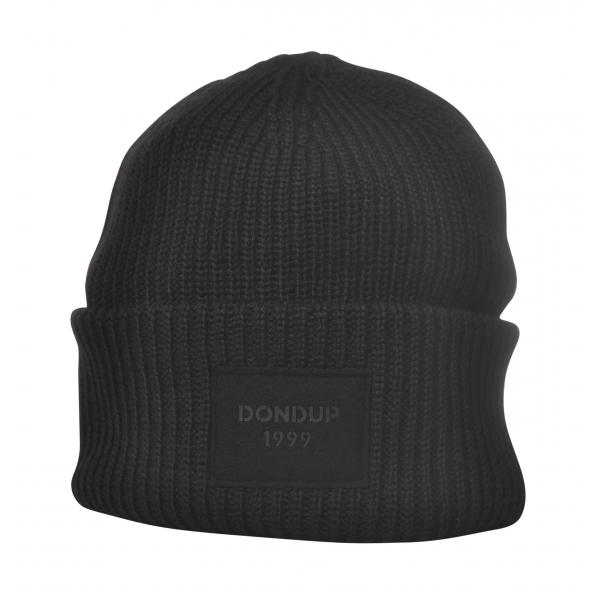 Dondup - Cappello a Coste con Logo - Nero - Cappelli - Luxury Exclusive Collection