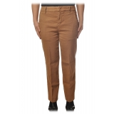 Dondup - Straight Leg Trousers with Strap - Beige - Trousers - Luxury Exclusive Collection