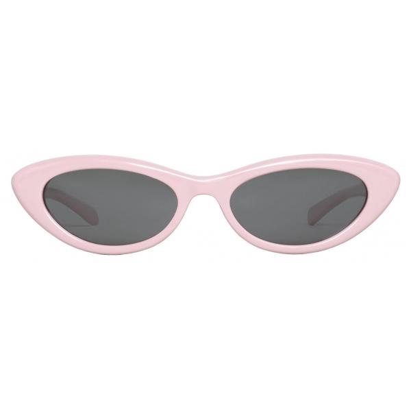 Céline - Black Frame 29 Sunglasses in Acetate - Pastel Rose - Sunglasses - Céline Eyewear