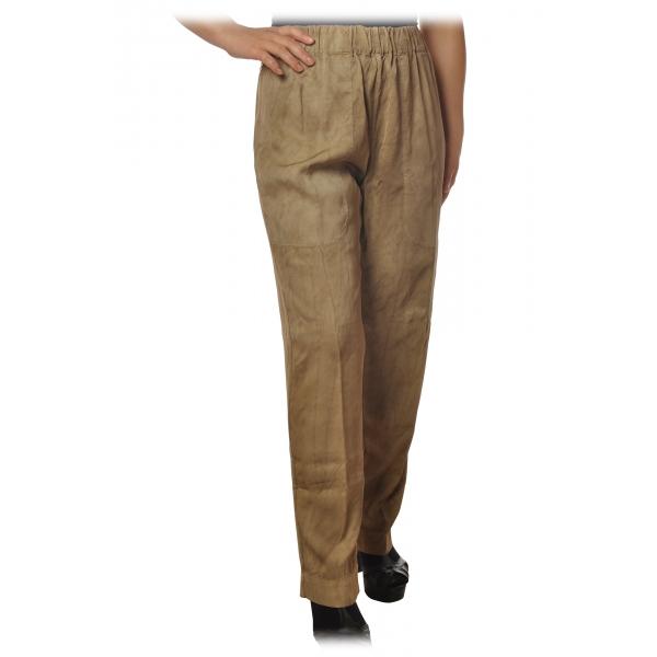 Dondup - Pantalone Gamba Dritta con Cinturino - Beige - Pantalone - Luxury Exclusive Collection