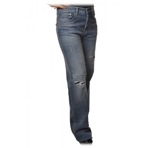Dondup - Jeans Cinque Tasche Gamba Ampia - Blue Jeans - Pantalone - Luxury Exclusive Collection