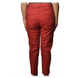 Dondup - Tapered Leg Trousers with Strap - Red - Trousers - Luxury Exclusive Collection