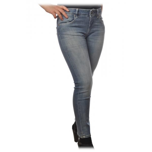 Dondup - Jeans Straight Cinque Tasche Elasticizzato - Denim - Pantalone - Luxury Exclusive Collection
