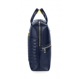 Automobili Lamborghini - Briefcase - Blue - Made in Italy - Luxury Exclusive Collection