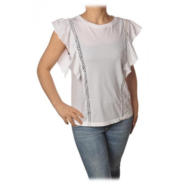 Dondup - T-shirt Dettaglio Passamaneria - Bianco - T-shirt - Luxury Exclusive Collection