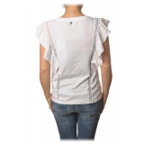 Dondup - T-shirt Trimmings Detail - White - T-shirt - Luxury Exclusive Collection
