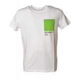 Dondup - T-shirt with Colored Geometric Detail - White - T-shirt - Luxury Exclusive Collection