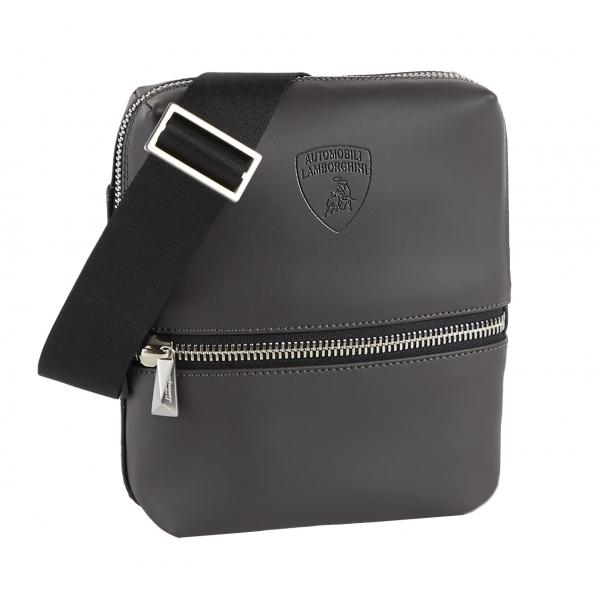 Automobili Lamborghini - Bodybag Piccola - Grigia - Made in Italy - Luxury Exclusive Collection