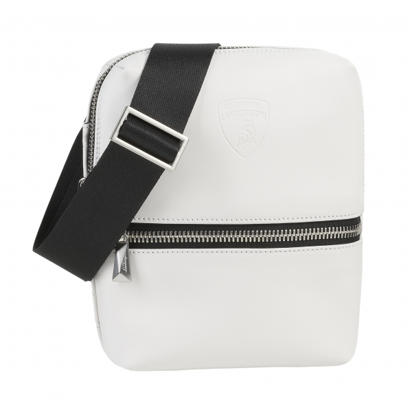 Automobili Lamborghini - Small Bodybag - White - Made in Italy - Luxury Exclusive Collection
