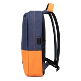 Automobili Lamborghini - Backpack - Blue - Made in Italy - Luxury Exclusive Collection