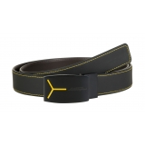 Automobili Lamborghini - Belt - Black and Dark Brown - Made in Italy - Luxury Exclusive Collection
