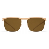Mykita - Will - NO1 - Champagne Gold Brown - Metal Collection - Sunglasses - Mykita Eyewear