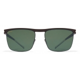 Mykita - Will - NO1 - Dark Brown Green - Metal Collection - Sunglasses - Mykita Eyewear