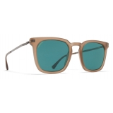 Mykita - Borga - Lite - Matte Taupe Graphite Ocean Blue - Acetate Collection - Sunglasses - Mykita Eyewear